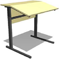 стол 1-местный регулируемый по высоте и наклону